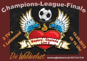 """In der Waldeslust übertragen wir das Champions League Finale 'Dahoam"""" live und in Farbe!"""