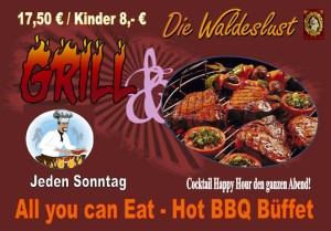 BBQ all you can eat Menü Unterhaching in der Waldeslust
