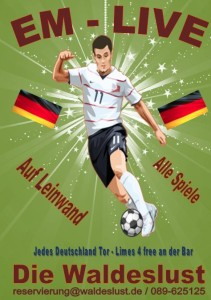 Wir übertragen die wichtigstens Spiele der Fußball EM 2012 in der Waldeslust