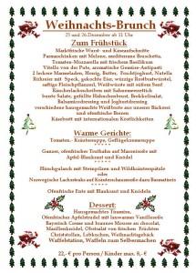Weihnachtsbrunch in der Waldeslust in Unterhaching 2012