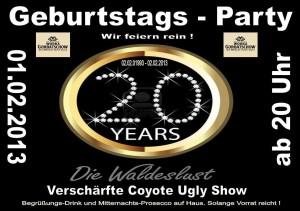 Die Waldeslust in Unterhaching feiert ihr 20 jähriges Bestehen und ihr seid alle eingeladen.